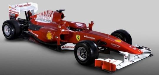 The Ferrari F10, which will be driven by Felipe Massa and Fernando Alonso