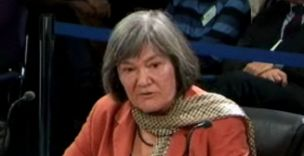 Giving evidence: Clare Short
