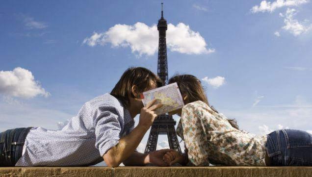 Eiffel Tower Paris couple