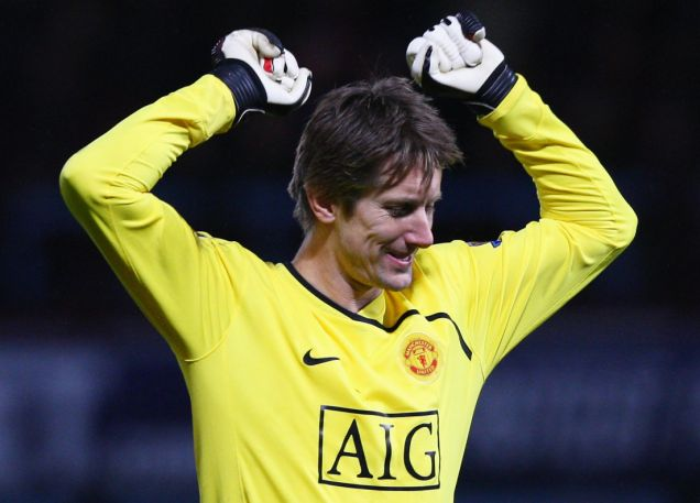 Back in action: Van der Sar