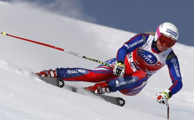 Britain's Chemmy Alcott will take place in five disciplines
