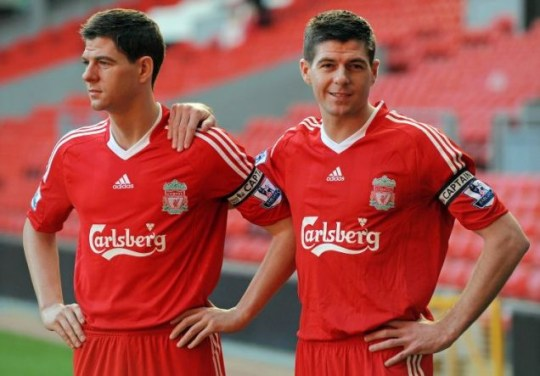 Scouse of wax: Steven Gerrard unveils his Mafame Tussauds waxwork
