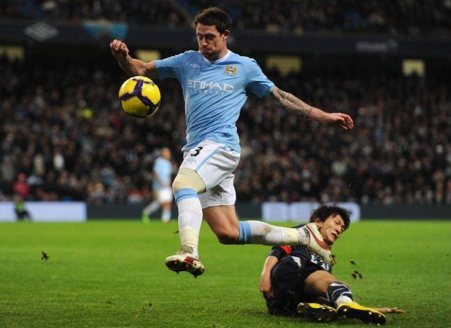 England chance: Manchester City full-back Wayne Bridge