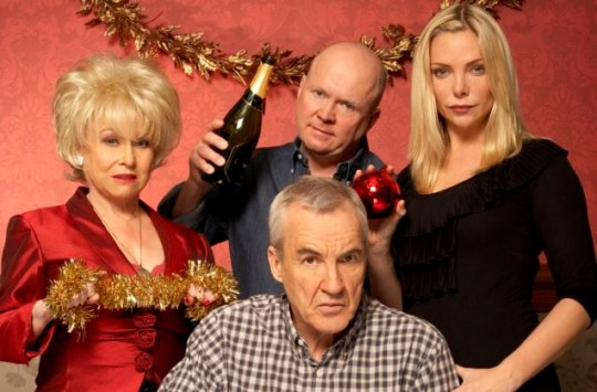 Archie Mitchell (centre) with his clan  - Peggy, Phil and Ronnie
