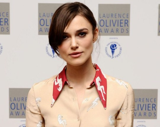 Keira Knightley arrives at the Laurence Olivier Awards Nominations Luncheon.