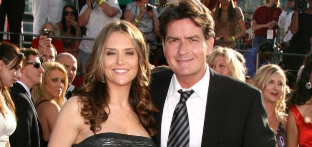 Charlie Sheen with wife Brook Mueller