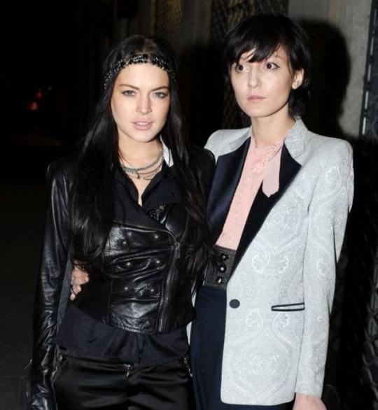Lindsay Lohan and her new pal Irina Lazareanu