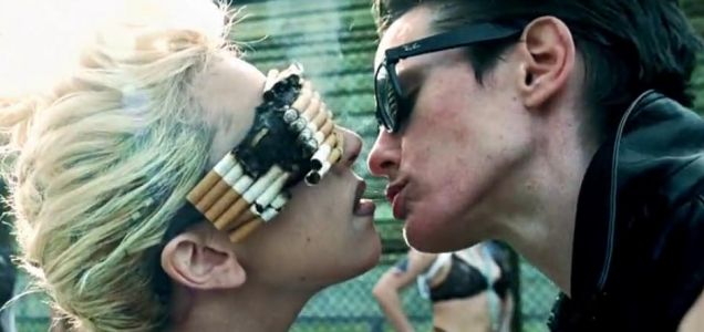 Lady Gaga snogs a female prisoner in the new video for Telephone