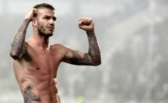 David Beckham has a variety of ink all over his body