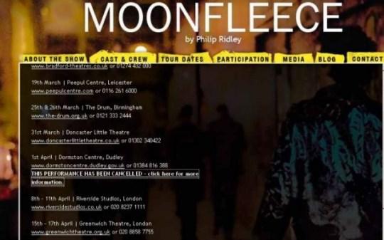 Dudley BNP play banned, Moonfleece