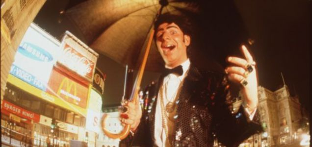 Steve Furst as his alter ego - 'Lenny Beige', the Jewish Seventies crooner.