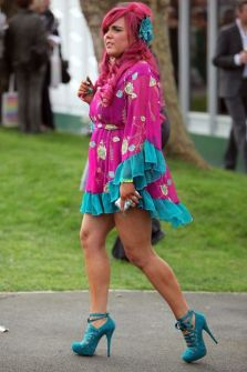 Coleen Rooney steals the show at Ladies' Day at Aintree