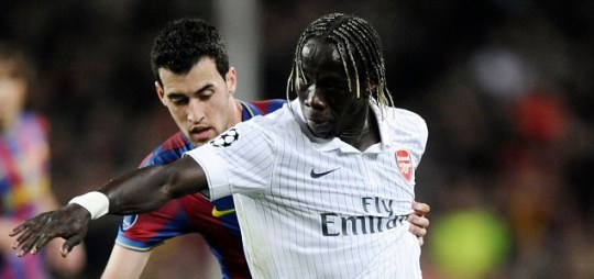 Bacary Sagna (right) could be on his way to Serie A in the summer, according to his agent