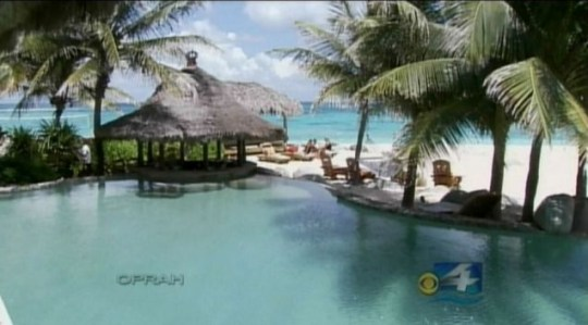 Open-plan: Richard Branson's private Caribbean island, which he bought in the 1970s