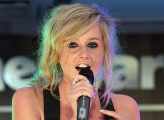 Diana Vickers performs at an X Factor gig