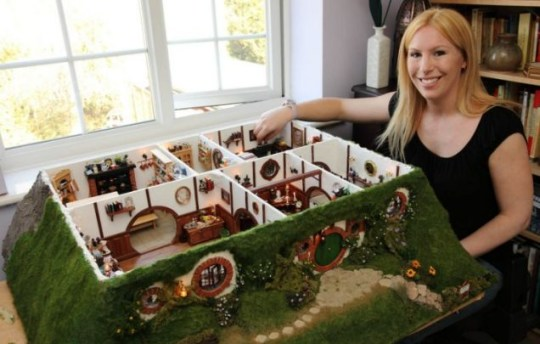 Lord of the Rings fanatic Maddie Chambers has created her own 'precious' tribute to the famous trilogy - a miniaturised model of Frodo Baggins' house.