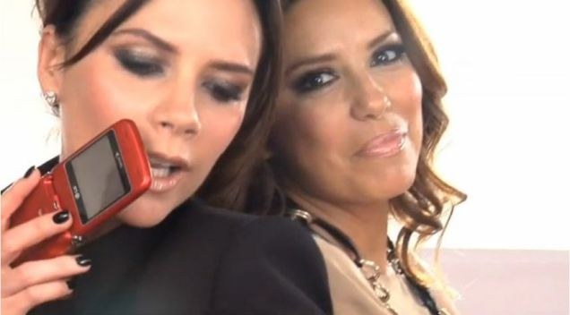 Victoria Beckham and Eva Longoria fool around like best friends in the LG advert