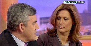 Sarah and Gordon Brown on GMTV