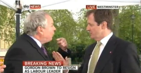 Adam Boulton's on-air fight with Alastair Campbell
