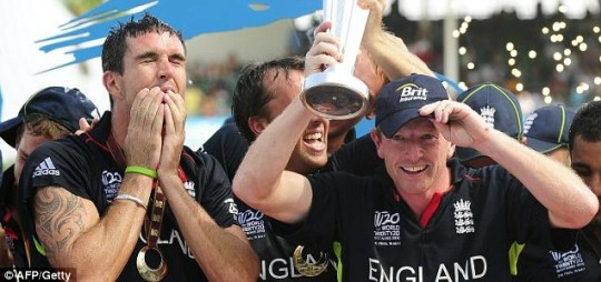 Kevin Pietersen and Paul Collingwood, World Twenty20 final win v Australia
