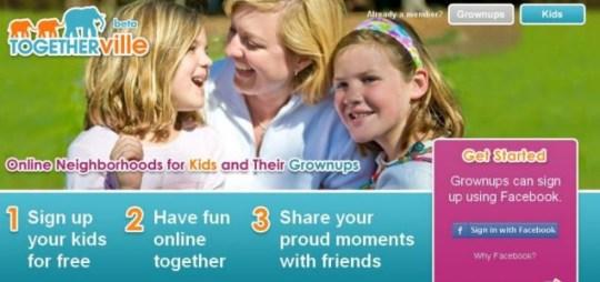 Togetherville, Facebook for kids