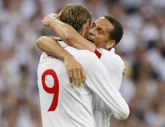 Peter Crouch and Rio Ferdinand