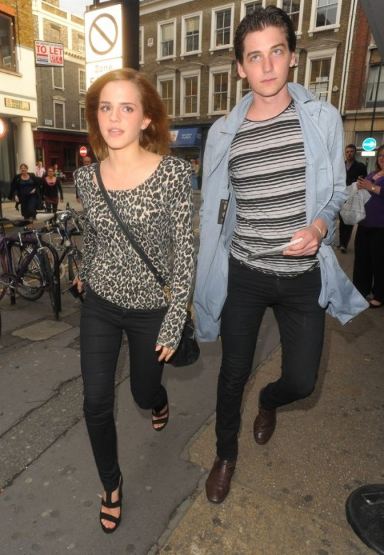 Emma Watson and George Craig enjoy a night at the theatre (Photo: Big Pictures)