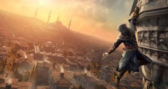 Assassin's Creed Revelations - Ezio is still hanging on