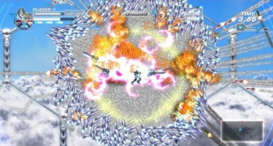 Bangai-O HD: Missile Fury (360) – that is going to hurt when it hits someone