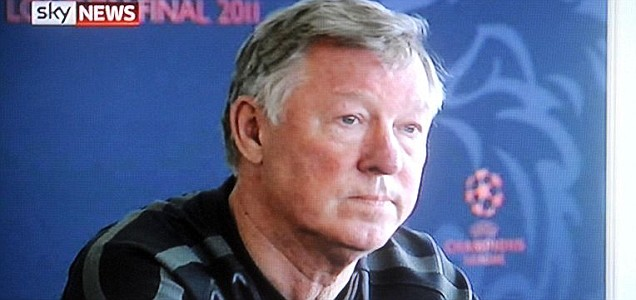 Manchester United manager Sir Alex Ferguson talking about whether to ban Associated Press reporter