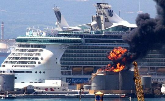 Gibraltar fuel depot blast leaves 12 cruise ship passengers injured