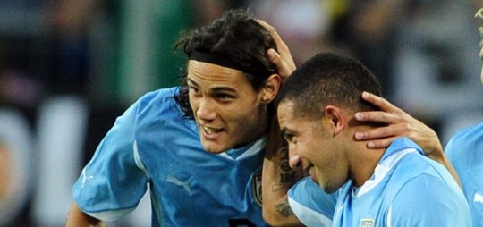Edinson Cavani of Napoli and Uruguay