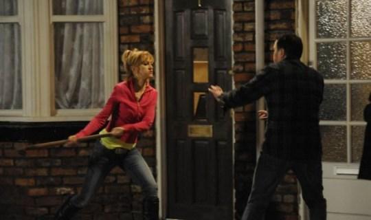 Coronation Street Becky smashes up Tracy Barlow's house