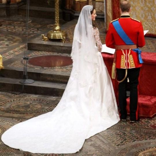 The Duchess of Cambridge, Sarah Burton Alexander McQueen wedding dress