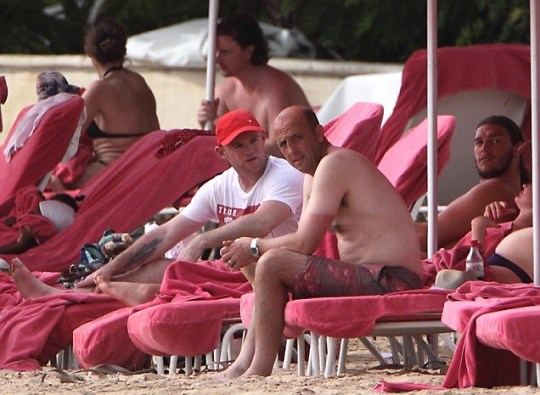 Wayne Rooney on holiday with Andy Carroll and Gary McAllister