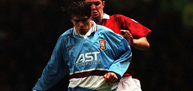 Aston Villa striker SAVO MILOSEVIC