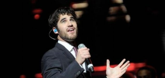 Glee's Darren Criss was dragged off the stage