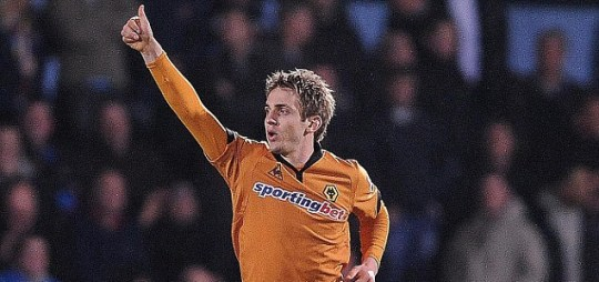 Thumbs up lads: Kevin Doyle looks set to be offered a new deal at Wolves