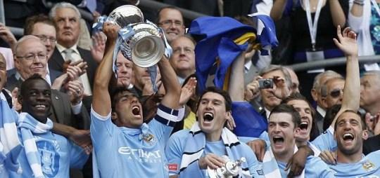 Manchester City win 2011 FA Cup Carlos Tevez