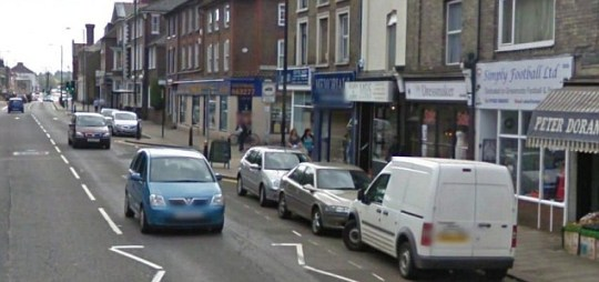 Under threat: The high street in Dunstable, Bedfordshire, has been identified in a survey as at risk as shoppers spend elsewhere (Pic: Google)