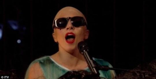 Bald Lady Gaga