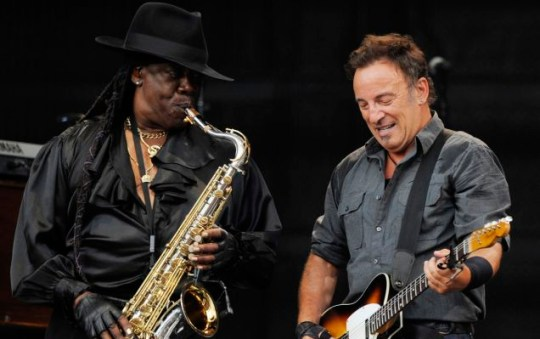 Clarence Clemons and Bruce Springsteen performing together in 2009, 36 years after Clemons first joined The E Street Band (AP)