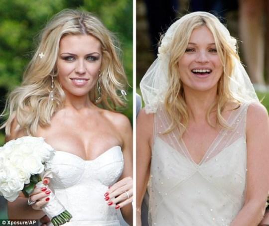 Kate Moss Wedding.Abbey Clancy V Kate Moss Celebrity Wedding Face Off Metro News