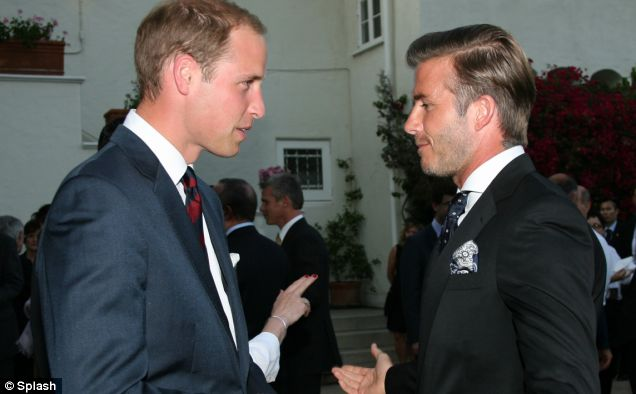 William appears to grill David Beckham on the new arrival