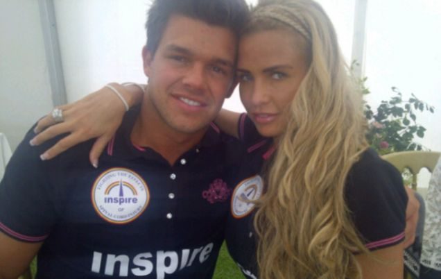 Katie Price posted a photo of herself at the Tidworth charity polo match with boyfriend Leandro