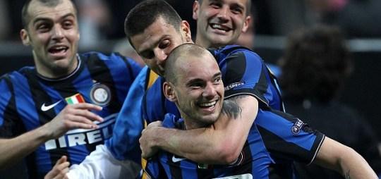Wesley Sneijder of Inter Milan