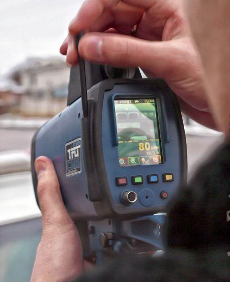 police speed camera