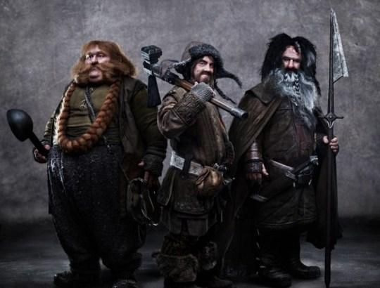 James Nesbitt is Bofur, Stephen Hunter is Bombur and William Kircher is Bifur in this new image from The Hobbit: An Unexpected Journey.
