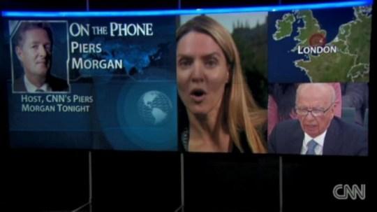 Louise Mensch and Piers Morgan, CNN