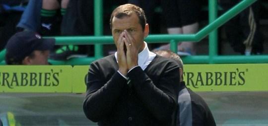 Hibernian's manager Colin Calderwood